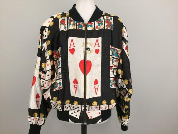 Rare Vintage Moschino Couture Bomber Jacket Satin