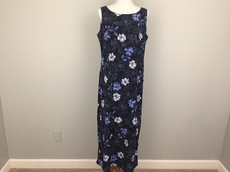 9e37daaaa1c4 Navy Blue Shift Dress Floral Print Dress Summer Maxi Dress | Etsy