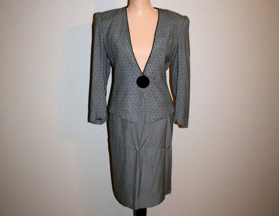 Business Suit Sexy Skirt Suit Medium Womens Suit Gray Suit Etsy