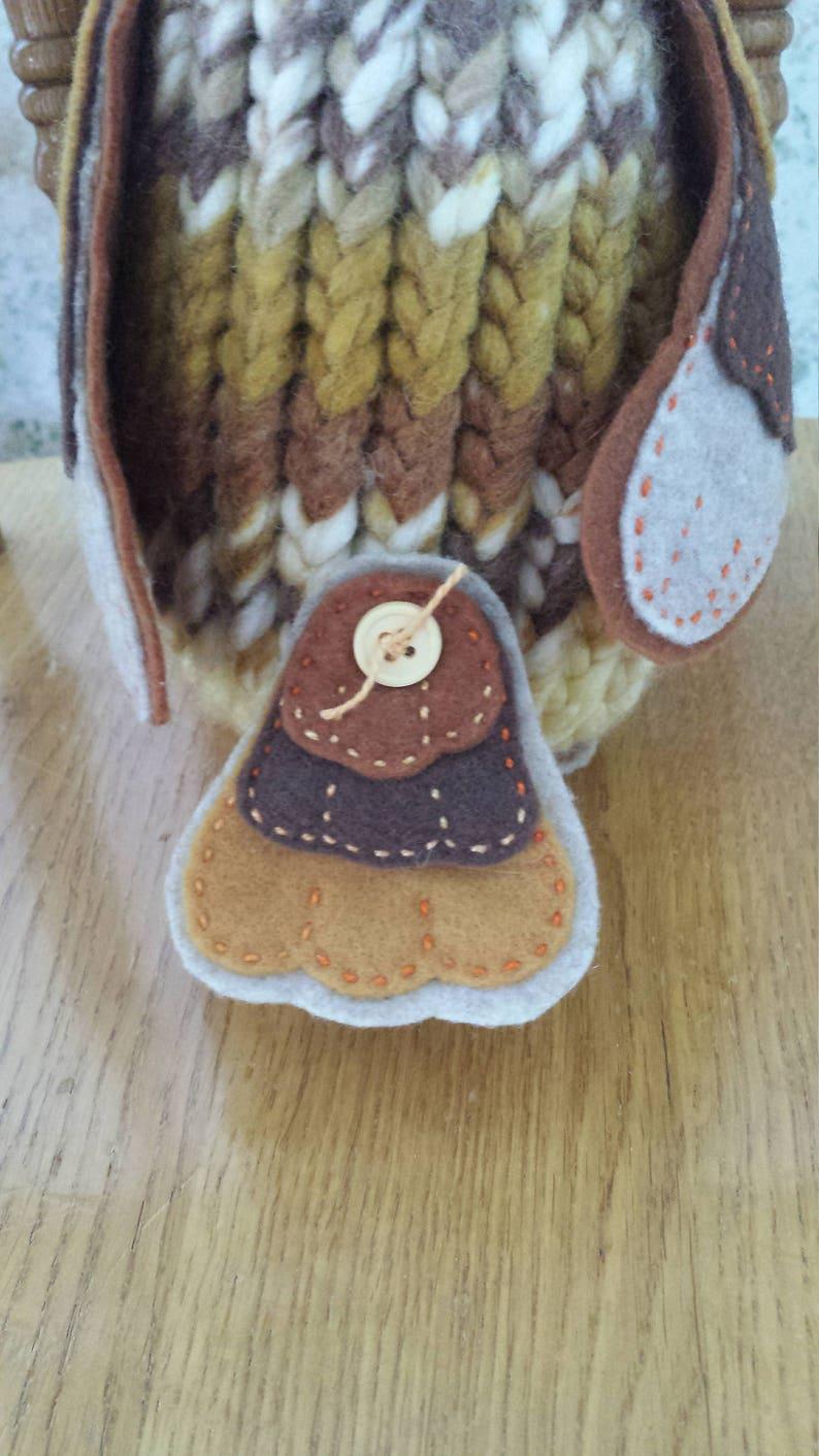 Hoot a owl OOAK handmade plush