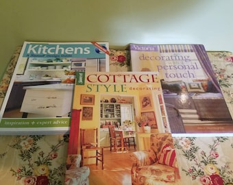 Set of three Home Decor Books