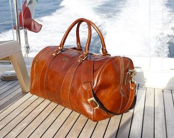 Leather Duffel Bag,Leather Travel Bag,Weekender bag,Duffle Bag,Leather overnight bag,Cabin Travel Bag,Gym Bag,Brown duffel (141217BROWN)