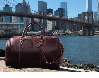 Cenzo Leather Duffel Bag, Travel Bag, Overnight Bag, Weekender Bag, Duffle Bag, Gym Bag, Leather Sports Bag (8815)