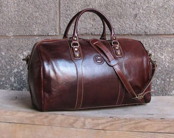 ec9fb50b88c Cenzo Leather Duffel Bag, Travel Bag, Overnight Bag, Weekender Bag, Duffle  Bag