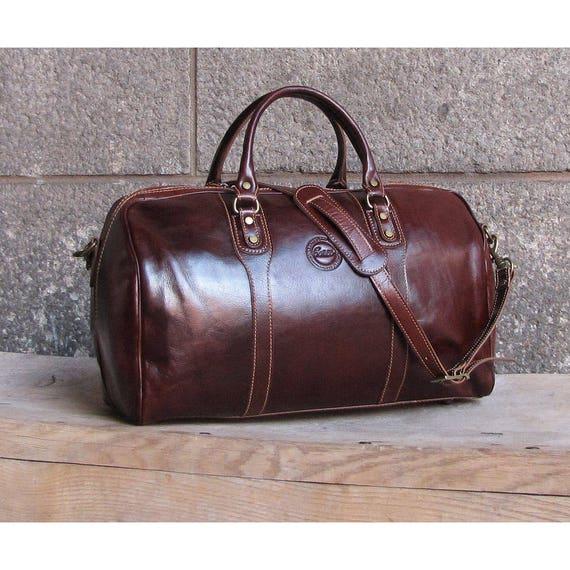 Cenzo Leather Duffel Bag Travel Bag Overnight Bag Weekender   Etsy 60c399b2d8