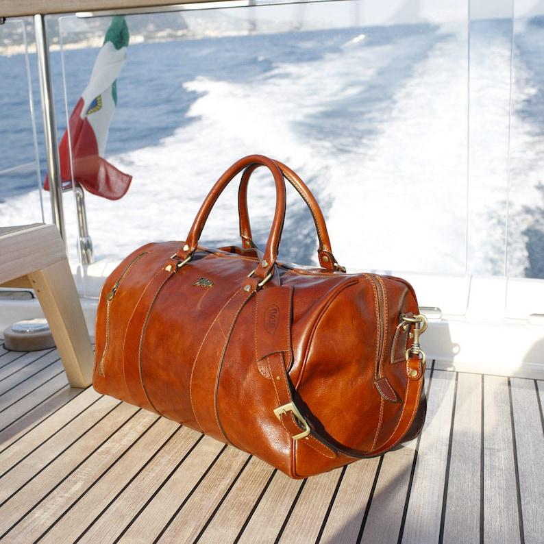 En Voyage Cuir Sac Polochon DeEtsy Weekender uXiOPkZ