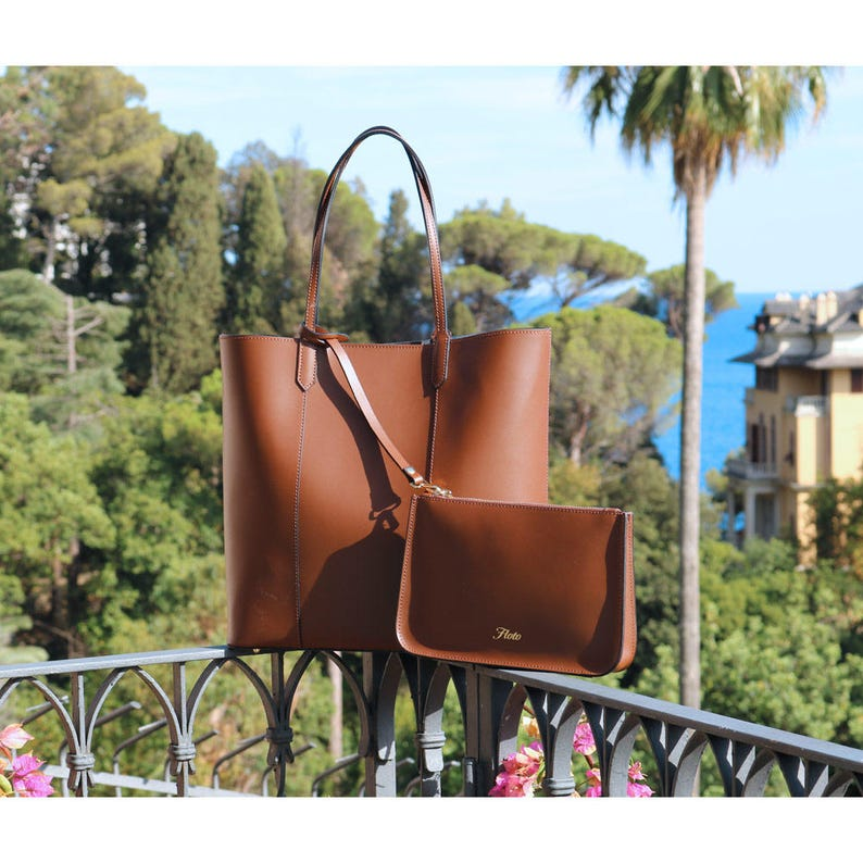 65894ad544402 Leather Bag Leather Tote Bag Brown Women s Bag Leather