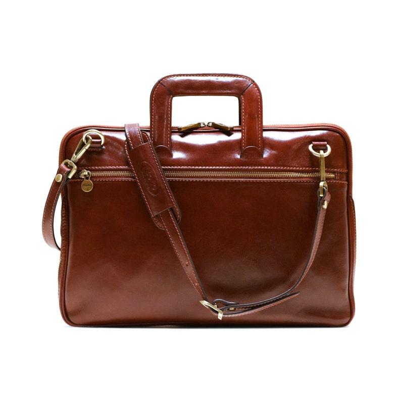 Floto Firenze sottile cartella Messenger Bag in pelle di  8e3065fa8bd
