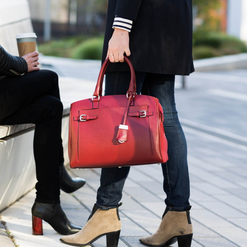33b9842f71a54 Leather Bag Leather Tote Bag Leather Shoulder Bag Handmade