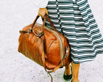Leather Duffel Bag, Large Leather Travel Bag, Weekender Bag, Duffel Bag, Leather Overnight Bag, Cabin Travel Bag, Gym Bag, Floto 4040 Parma