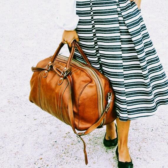 Leather Duffel Bag Large Leather Travel Bag Weekender Bag   Etsy d011bc559c