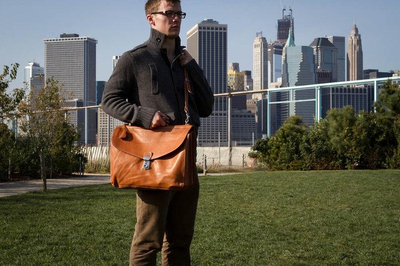 Mens Leather Briefcase 4050Parma Leather Messenger Bag Leather bag Laptop Bag Leather Briefcase Floto Parma Messenger