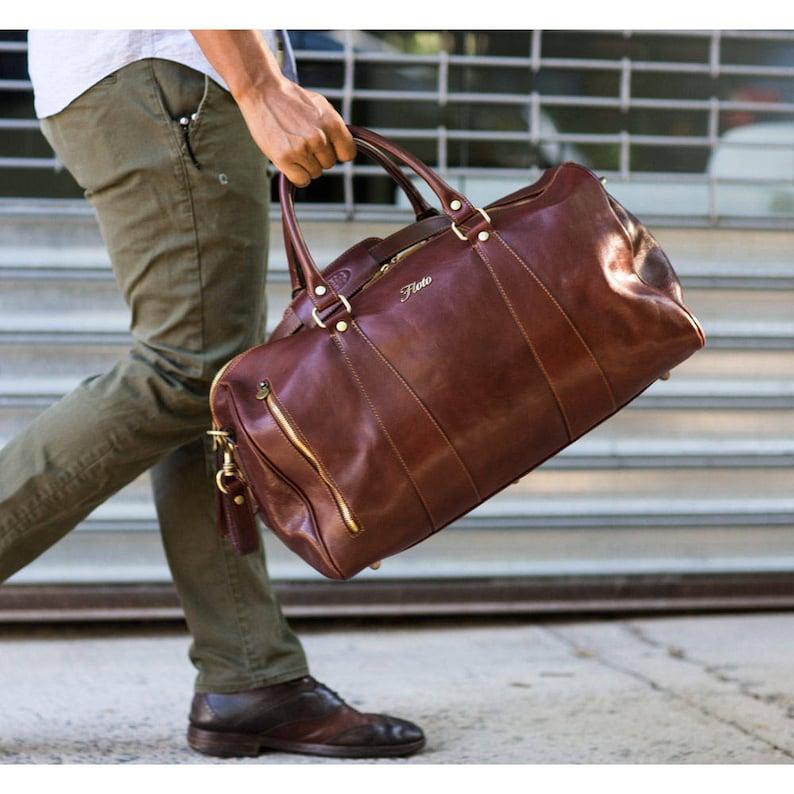 15174db420 Leather Travel Bag Leather Duffel Bag Weekender Bag Duffel