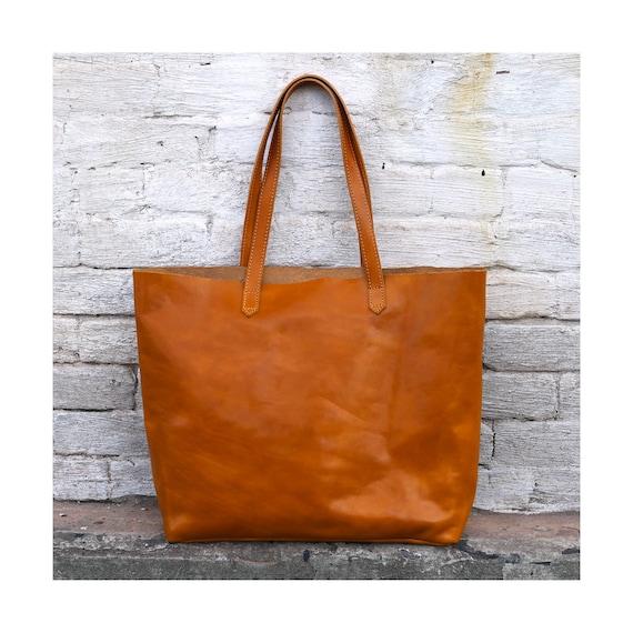 Leather Bag Leather Tote Bag Leather Shoulder Bag Leather   Etsy 7570c7dd75