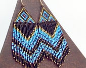 Seed Bead statement earrings
