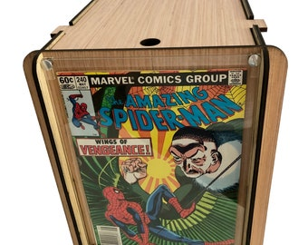 Wood Comic Box PLUS Vintage Spider-Man Comic Book - 240 May 1983 - Wings of Vengeance - Perfect Storage for Comic Collector Plus Great Comic