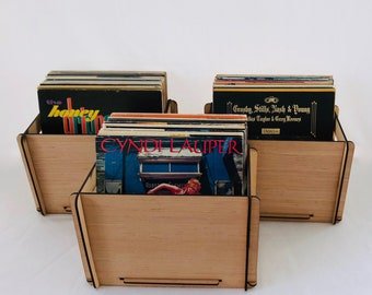 Three Record Storage Crates - Organize Your Vintage & New Vinyl LP Collection - Plus Optional Add on  - Set of Alpha Dividers