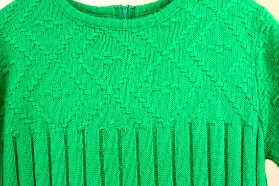 Vintage Sweater Green with Envy Sweater Dress Kel… - image 5