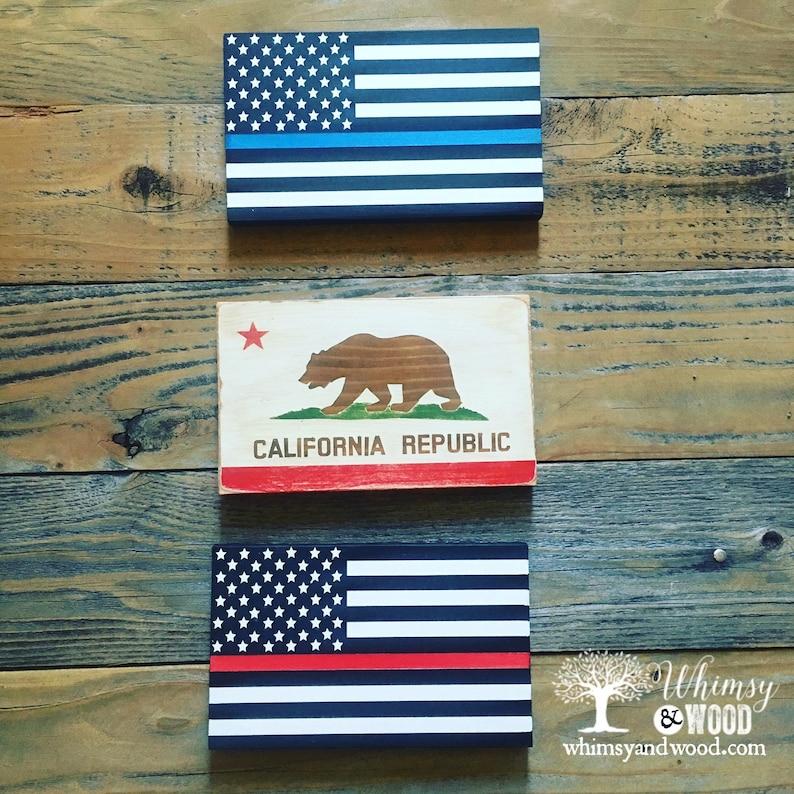 0f01edc694d7a Mini California Flag Wall Art, Hand Painted