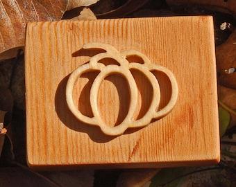 Craft Stamp wood-soap-fabric-scrapbook-ceramic and terracotta-round pumpkin-Autumn-Halloween
