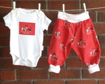 santa and reindeer clothes baby and toddler 2 piece set size nb 3 6 12 18 months festive holiday baby outfit