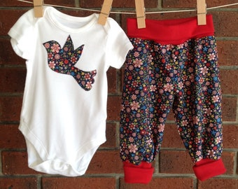 Handmade 2 Piece Harem Set Girls' Clothing (newborn-5t) Sz 0 Clothing, Shoes & Accessories