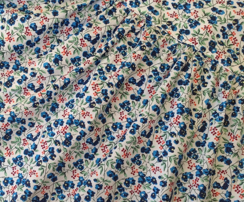 Size 12 months dress  blue floral cotton baby dress  baby girl gift ideas  gifts 12 month baby girl