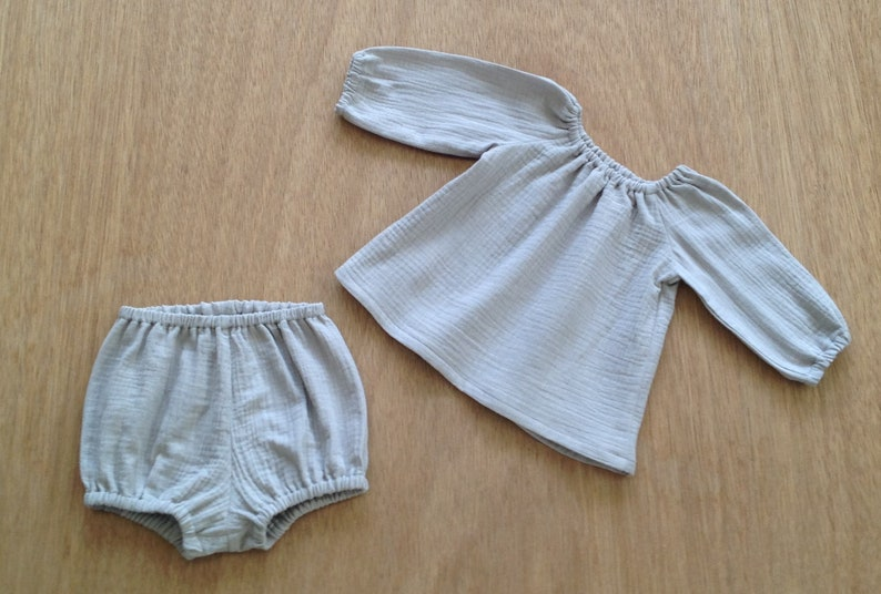 1a9fee0e03b GAUZE BABY CLOTHES    double gauze fabric   6 colour choices
