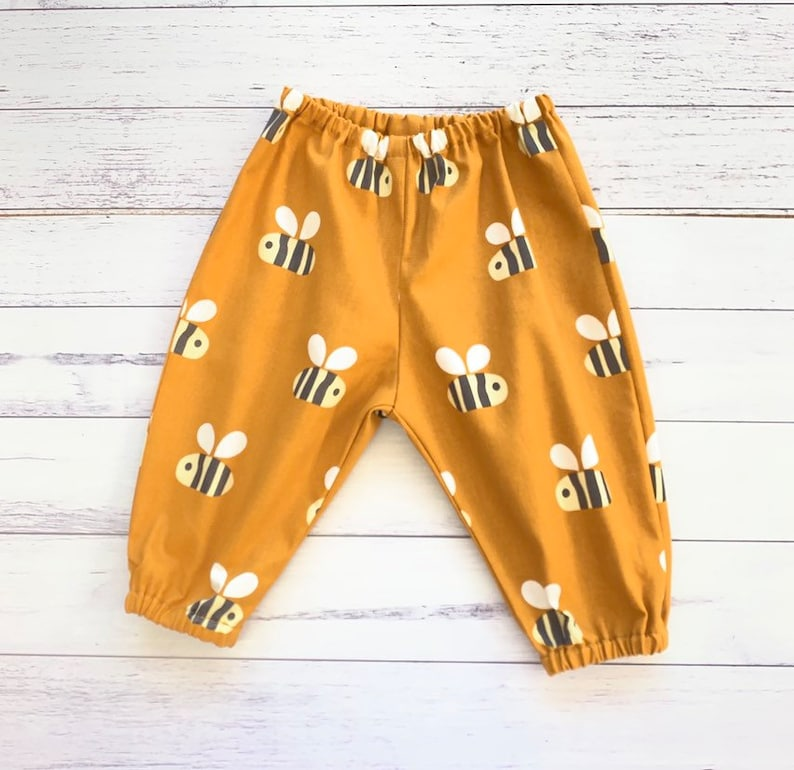 Baby Boy Trousers Unisex Mustard Bumble Bee
