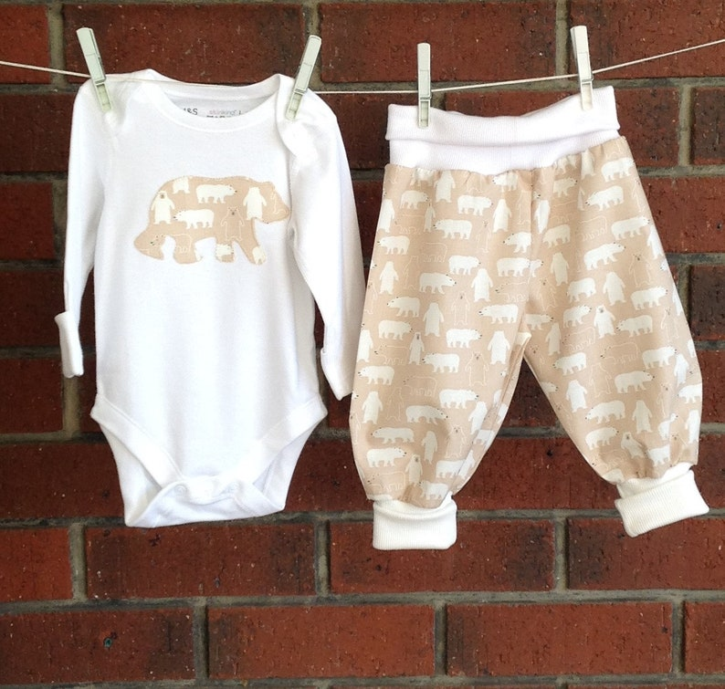 442f558c9d93 BABY BOY OUTFITS    baby boy clothing set   beige bear fabric