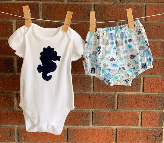 100/% COTTON *ROMPERS*  BLUE BABY BOY   0-3  3-6  6-9 Months  CUTE APPLIQUE
