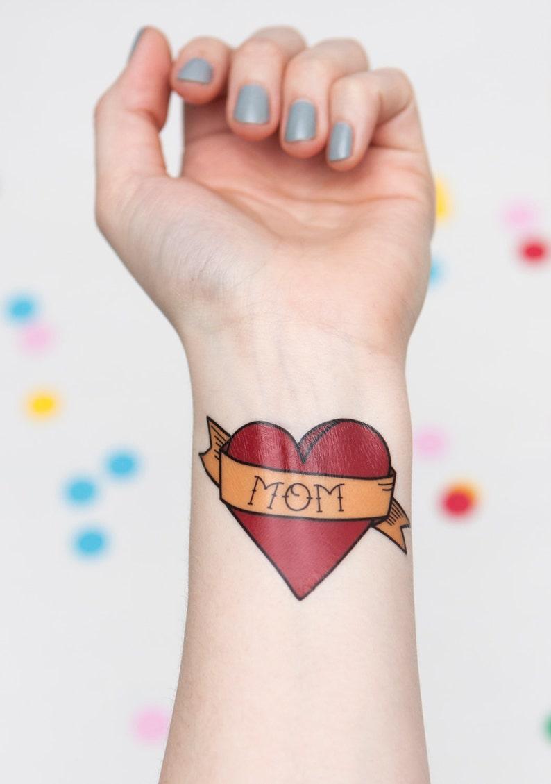 Customizable Temporary Heart Tattoo | Etsy