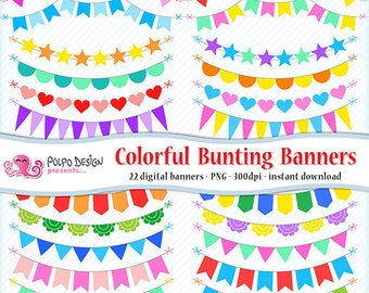 colorful banner etsy