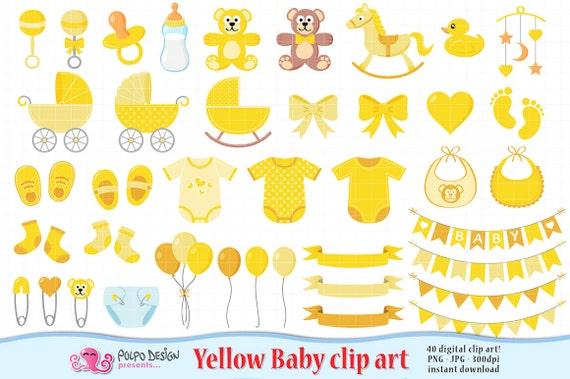 Yellow Baby Clipart Scrapbook Yellow Baby Clip Art Boy Girl Gender