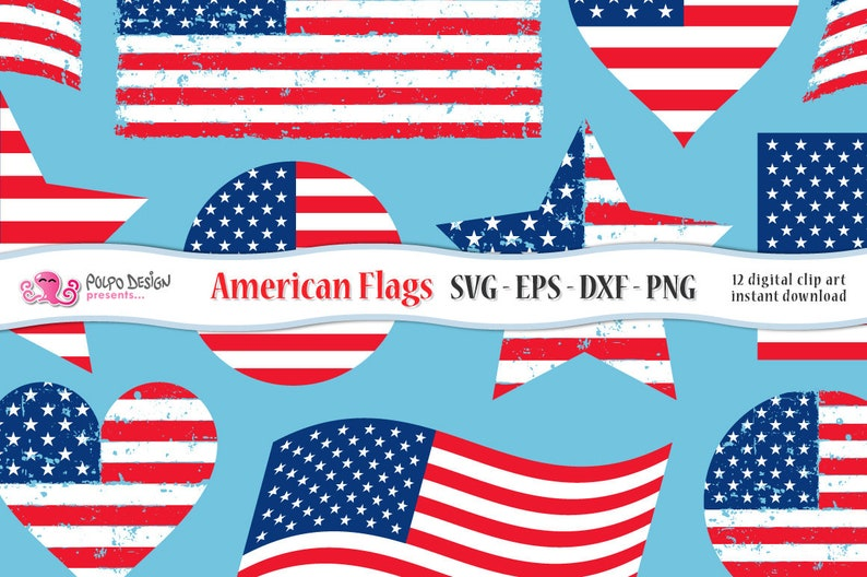 218bd6c68ed American flag SVG. Usa flag clip art in Svg Eps Dxf and Png.