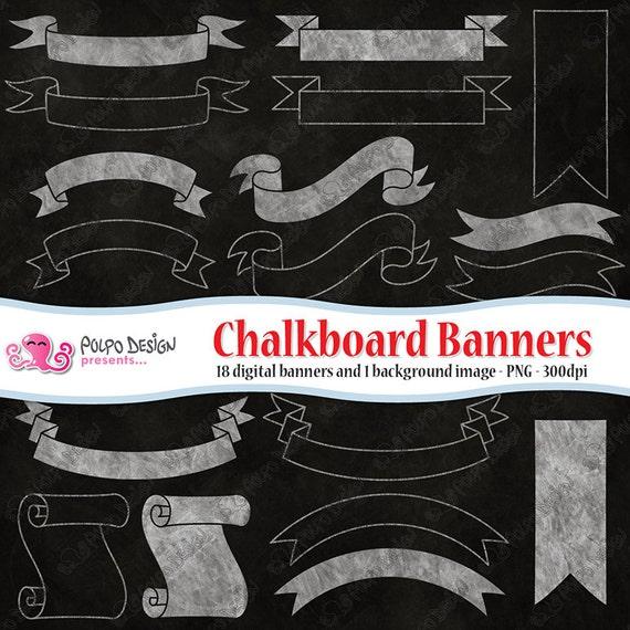 Chalkboard Background Frame Instant Digital Download Digital Scrapbook Chalk Borders Wedding Invitation Frames