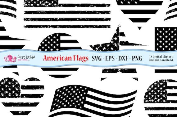 US flag svg distressed flag svg US flag clipart american | Etsy