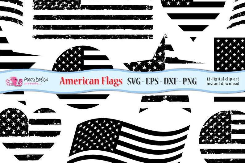 4343a90a328 American flag SVG. Monochromatic Usa flag clip art in Svg