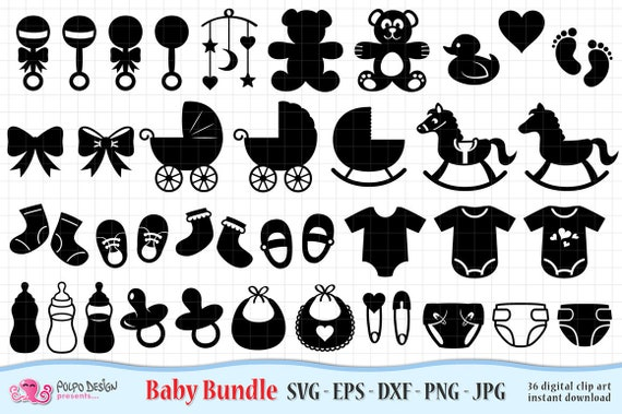 Baby Svg Bundle Svg Eps Dxf Jpg And Png Vector Files Ideal For Cutting Machines Instant Download Commercial Use Boy Girl Onesie By Polpo Design Catch My Party