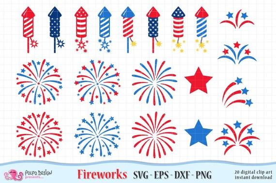 Fireworks Svg Cutting File Fireworks Vector Files Fireworks Dxf Clipart Fireworks Cutting Files