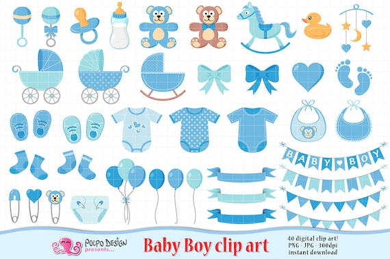 baby boy clipart its a boy scrapbooking baby boy clip art etsy