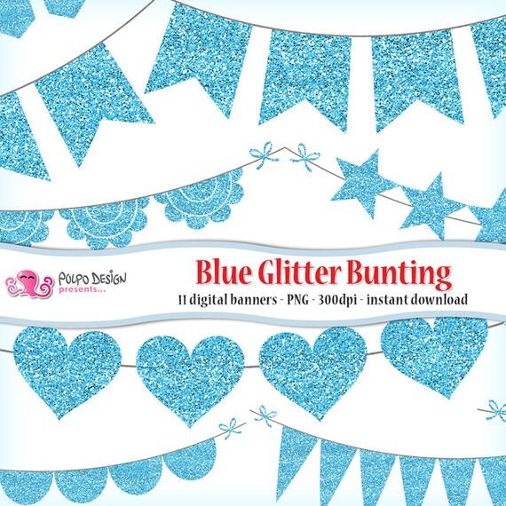 blue glitter bunting banner clipart blue glitter clipart baby boy
