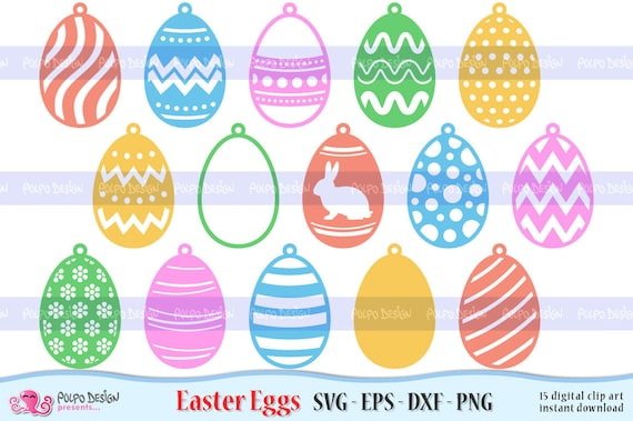 Get Easter Eggs Svg Dxf Cutting File For Cameo And Cricut PNG