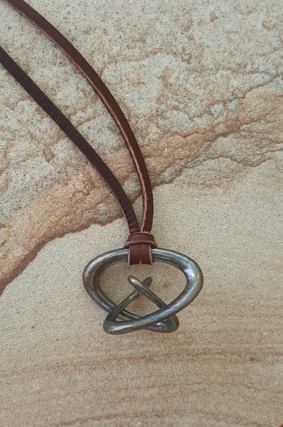 "3d Music Necklace - ""Gyre"" - Original Bronze Pendant - Fifth Octave Harmony - Techniflow Soundstill Series"
