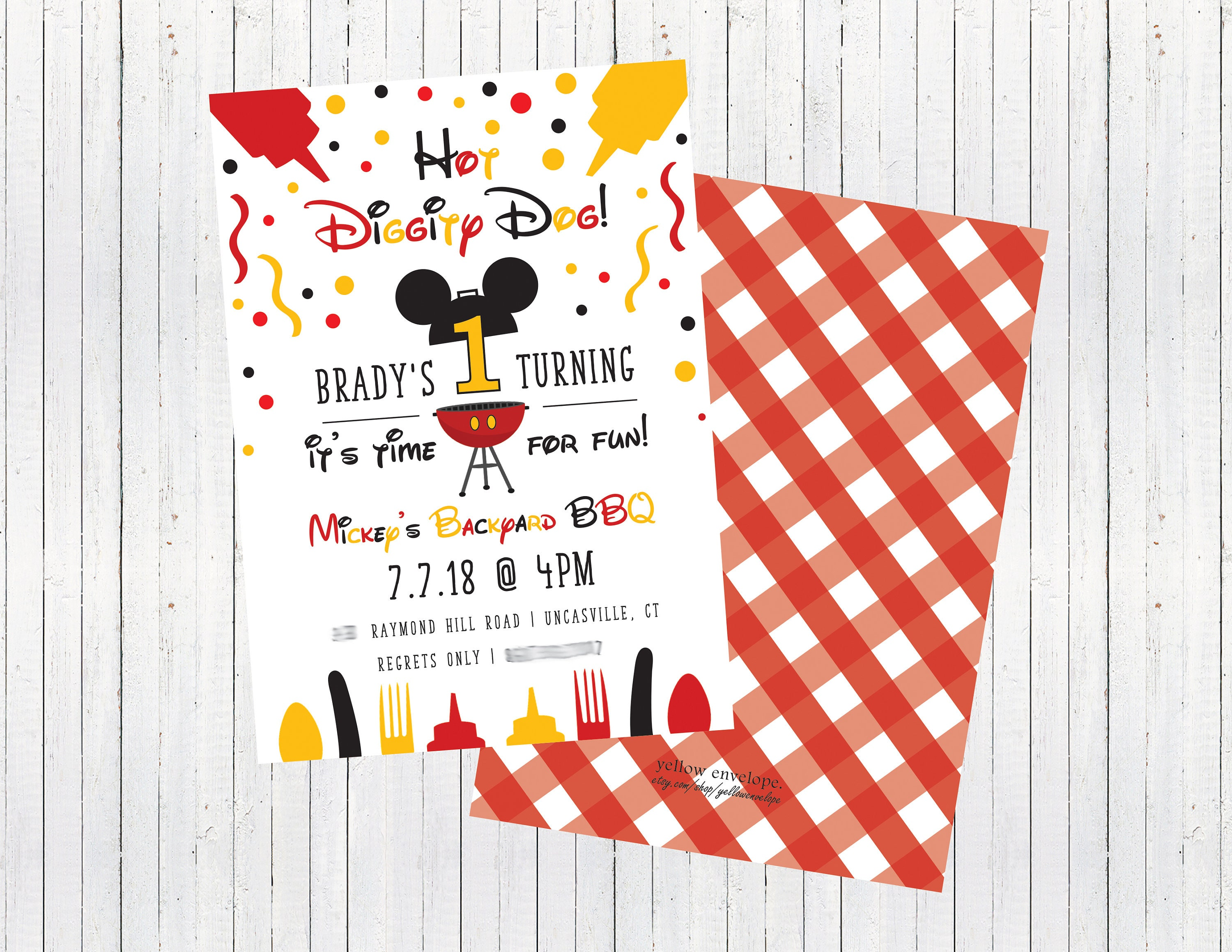 Mickey Mouse 1st Birthday Invitation Mickey Mouse Clubhouse | Etsy