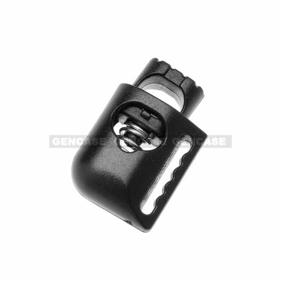 Pack-of-6 Adjustable Spring Black Toggle Clothing Sweater String Plastic Lock
