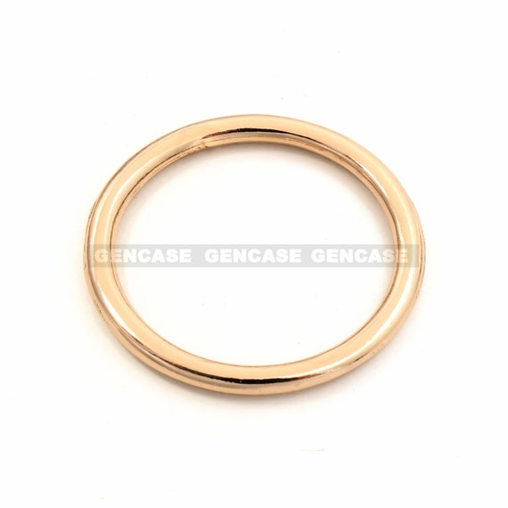 s ROUND 25MM ANT BRASS TEXTURED RING-1 PC