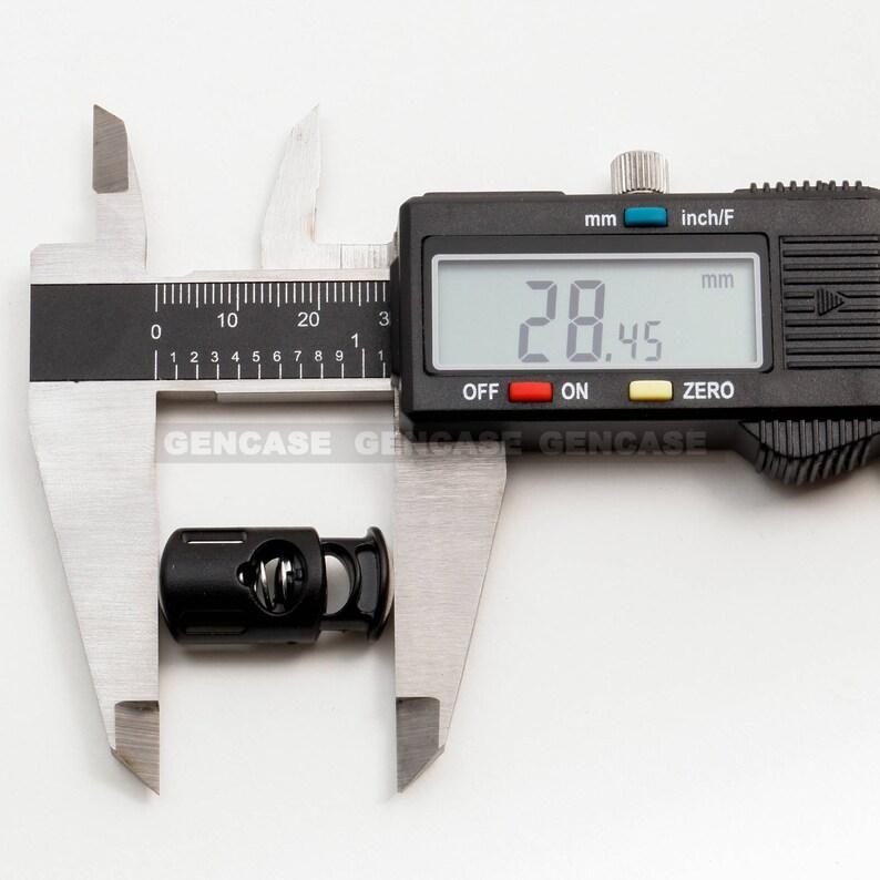 0.3 Inch 8 mm Black 1 PCS Plastic Cord Lock w Dual Slide