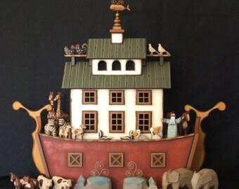 """Handmade wooden Noah's Ark """"The Nantucket Ark"""""""