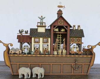 Handmade Wooden Noah's Ark